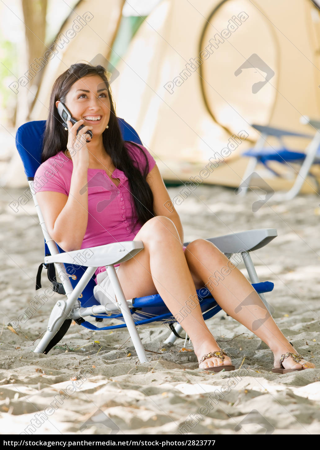 woman, talking, on, cell, phone, at - 2823777