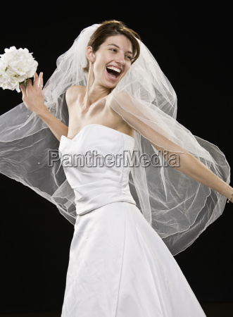 young, woman, in, wedding, dress - 2823067