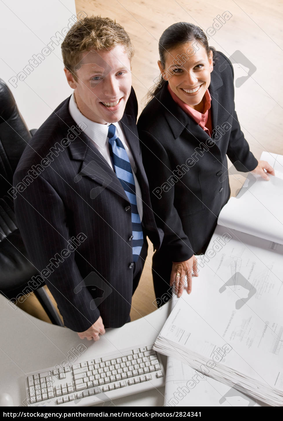 business, people, reviewing, blueprints, together - 2824341