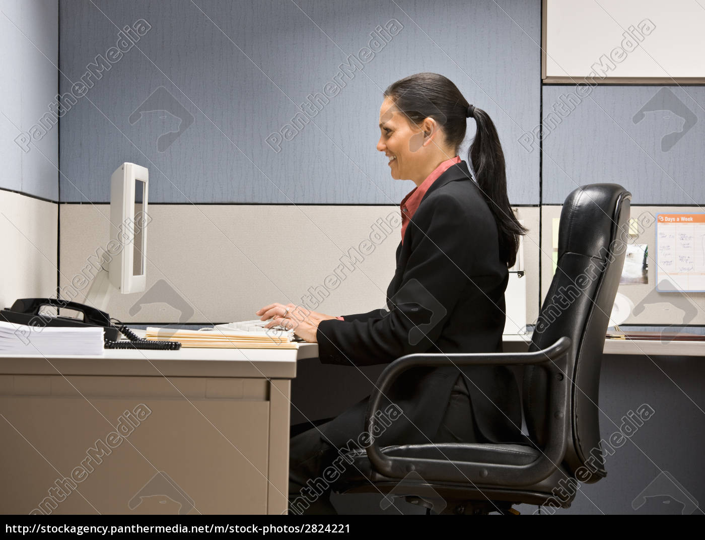businesswoman, typing, on, computer - 2824221