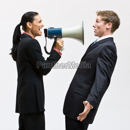 businesswoman, using, megaphone - 2824317