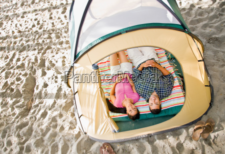 couple, laying, in, tent - 2824017