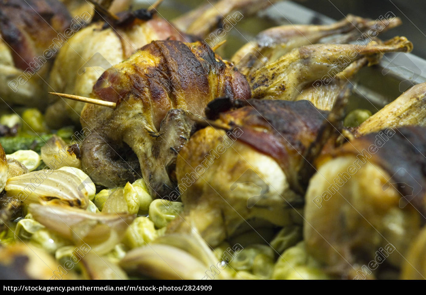 quail, wrapped, in, bacon - 2824909
