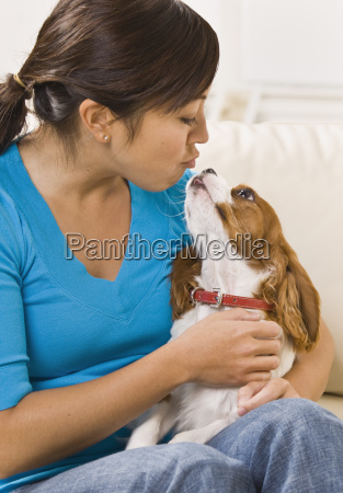 woman, kissing, dog - 2824077