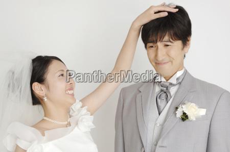 portrait of bridal couple