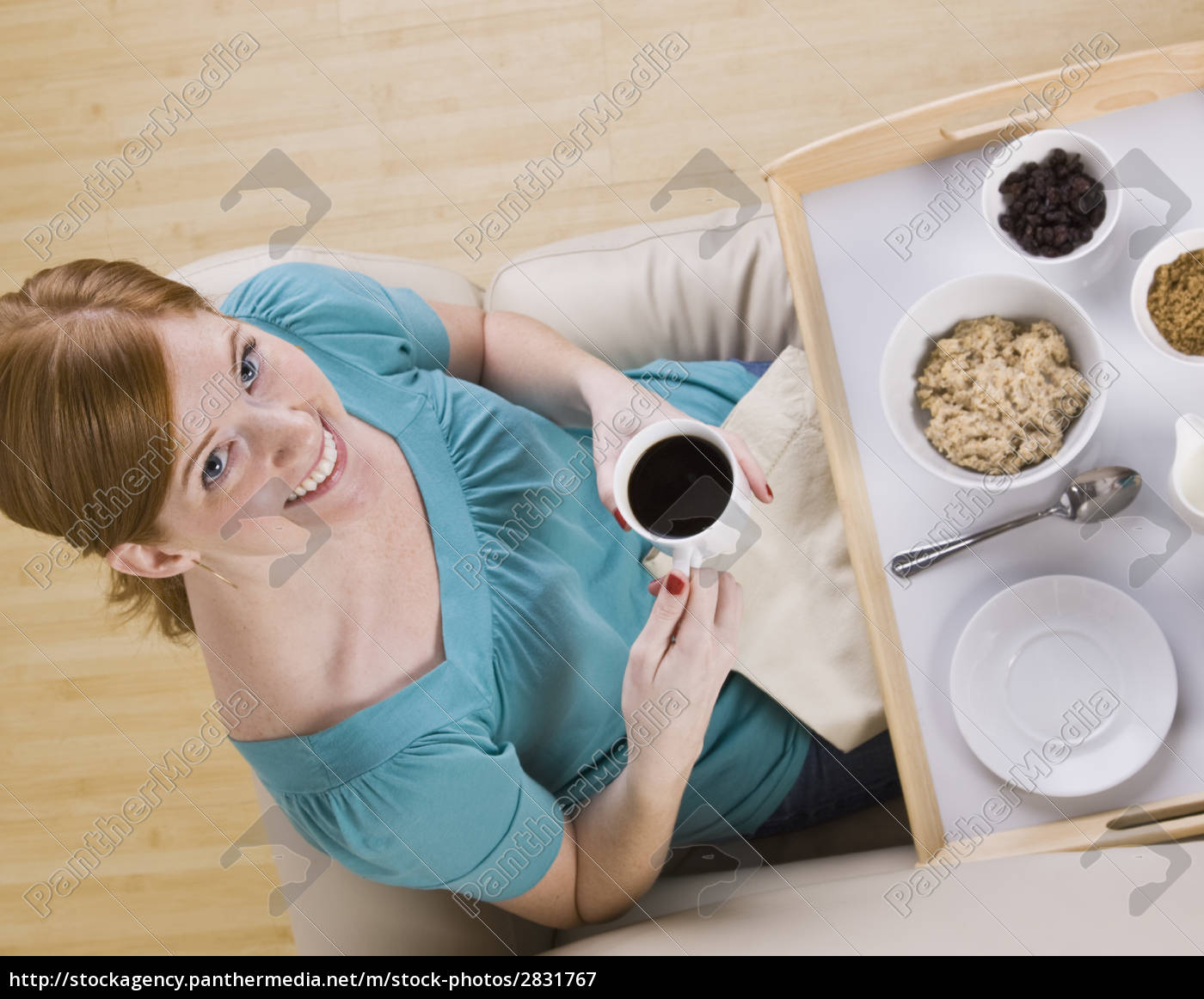 cute, redhead, with, breakfast, tray - 2831767