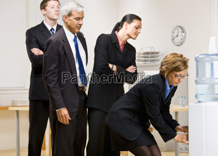 business, people, waiting, turn, at, water - 2832455