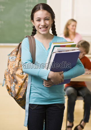 student, carrying, backpack, and, books - 2832617