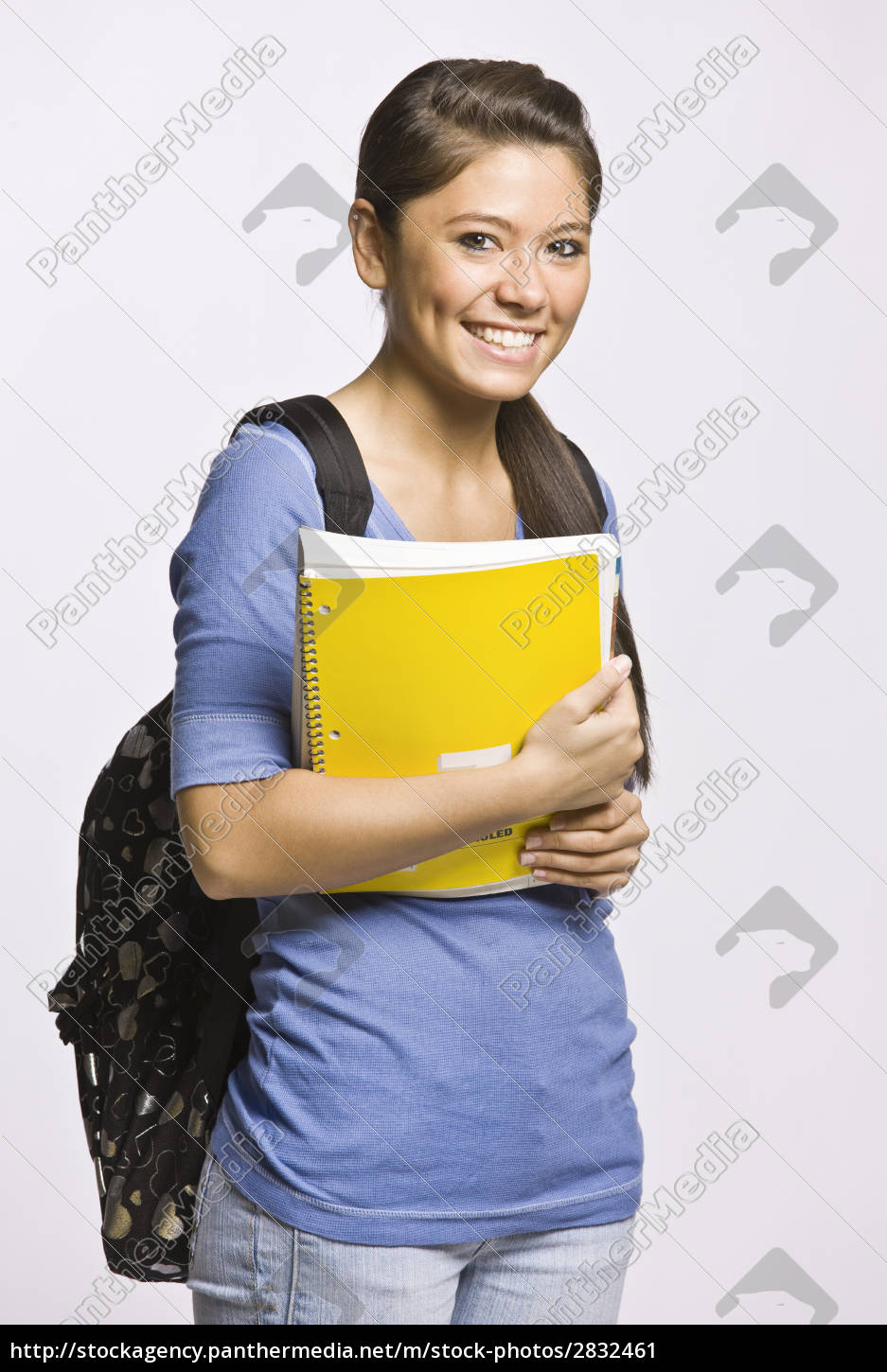 student, carrying, backpack, and, notebook - 2832461