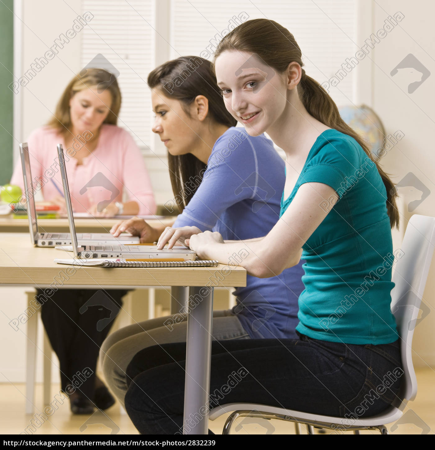 students, using, laptops, in, classroom - 2832239