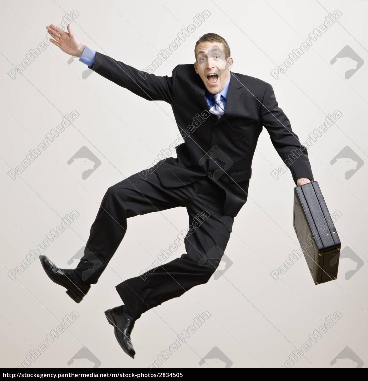 businessman, clicking, heels - 2834505
