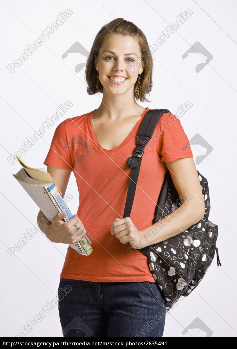 student, carrying, backpack, and, books - 2835491