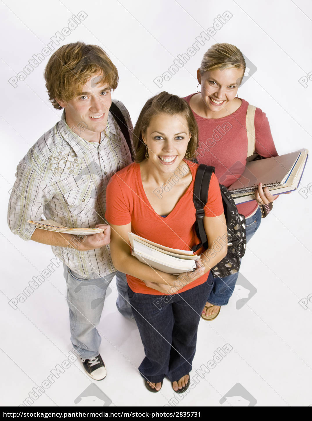 student, friends, carrying, bags, and, books - 2835731