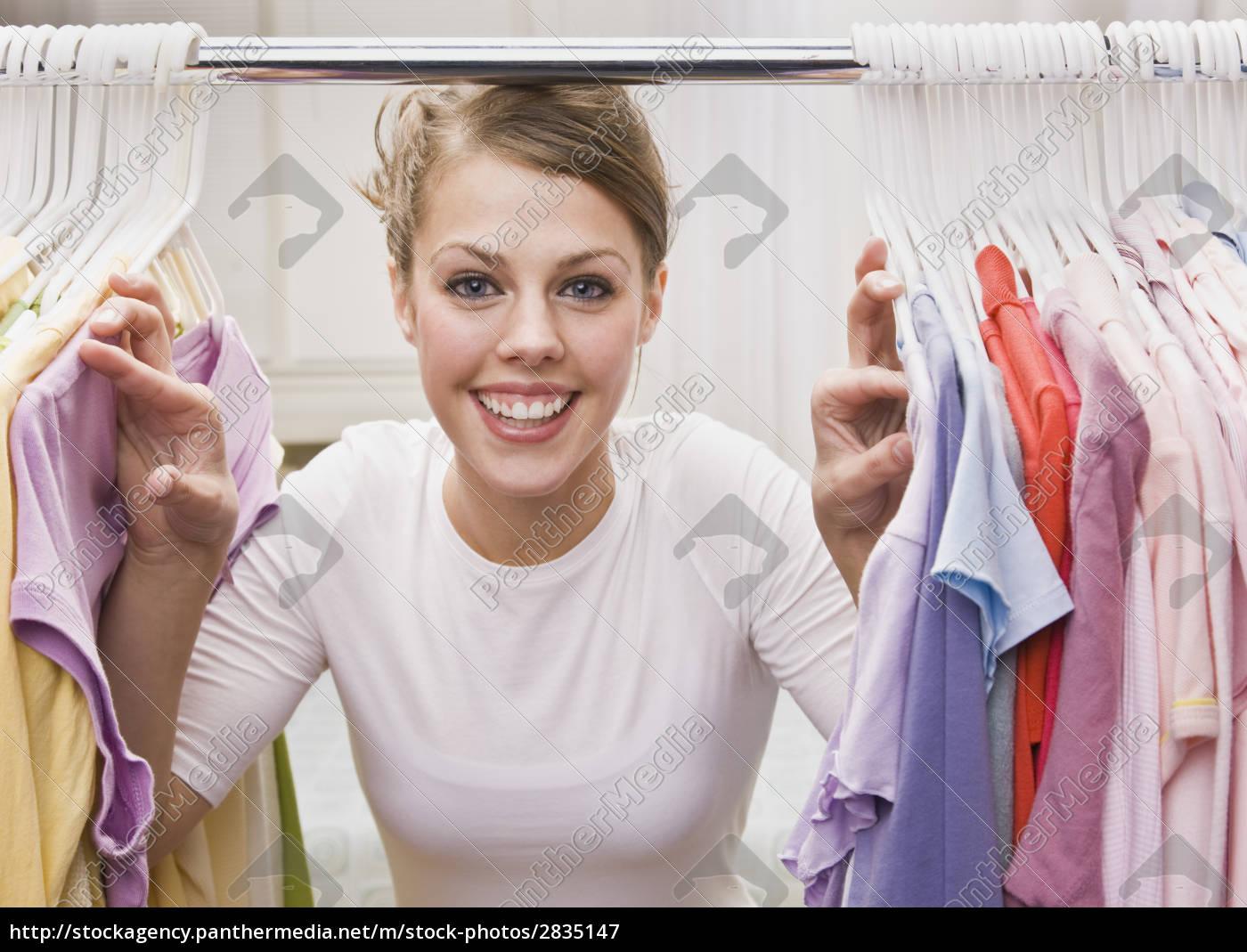 woman, looking, through, closet - 2835147