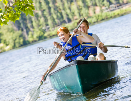couple, rowing, boat - 2836203