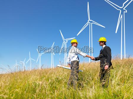 engineers, building, windmills - 2837855
