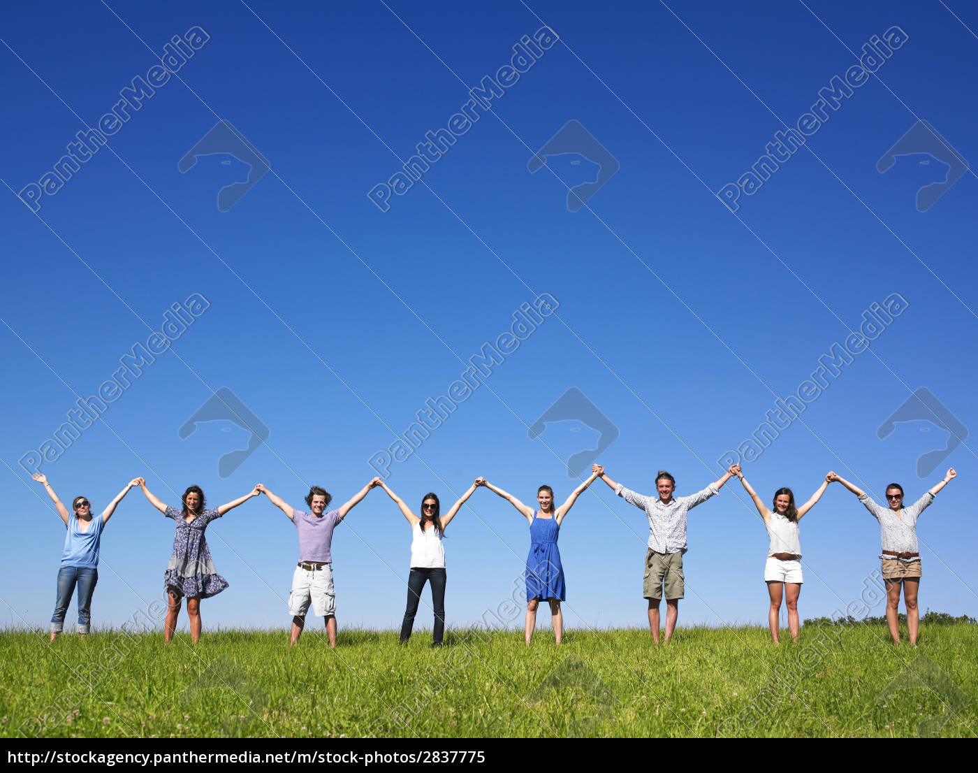 group, holding, hands - 2837775