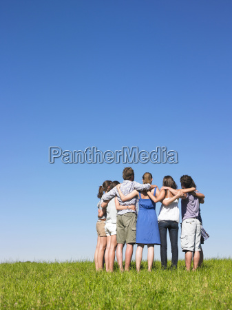 group, in, semicircle - 2837763