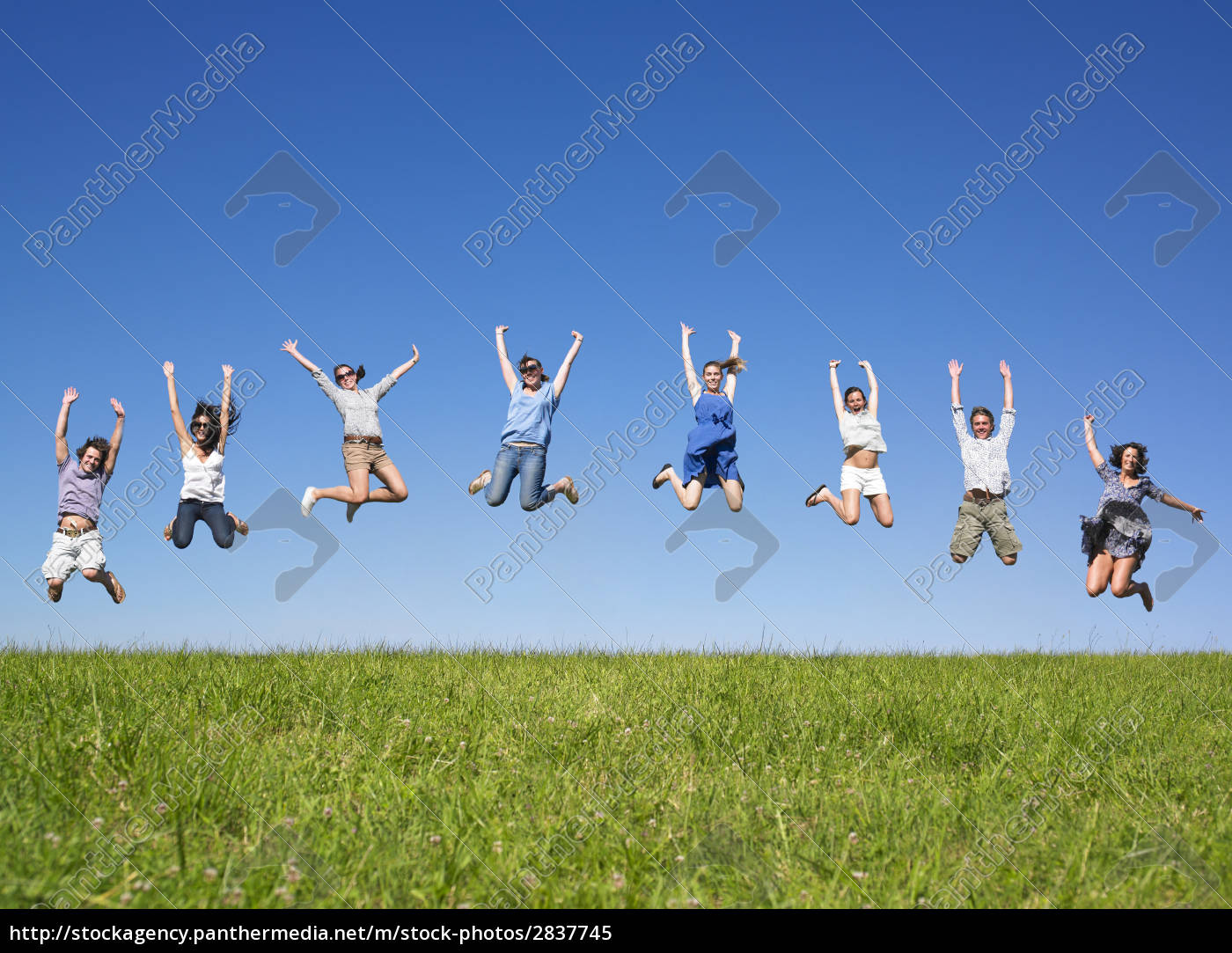 group, jumping, - 2837745