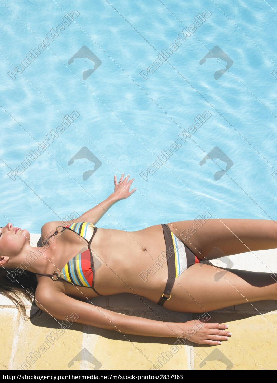 woman, around, pool - 2837963