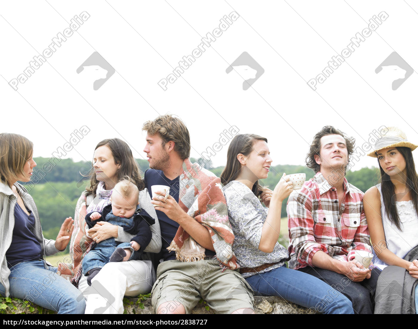 group, of, people, relaxing, outdoors, with - 2838727