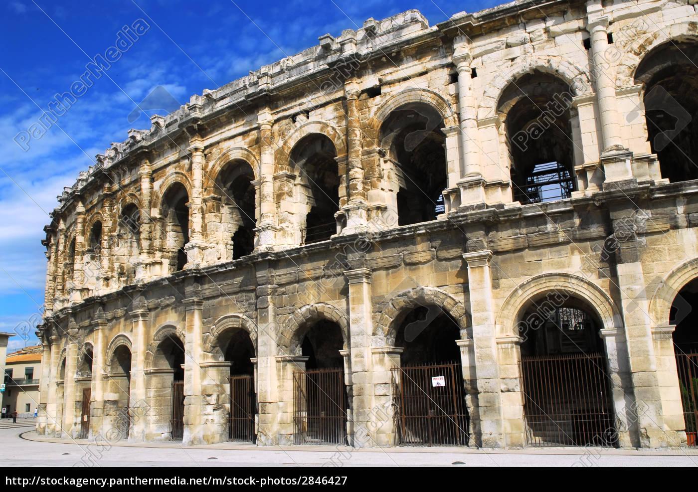 roman, arena, in, nimes, france - 2846427