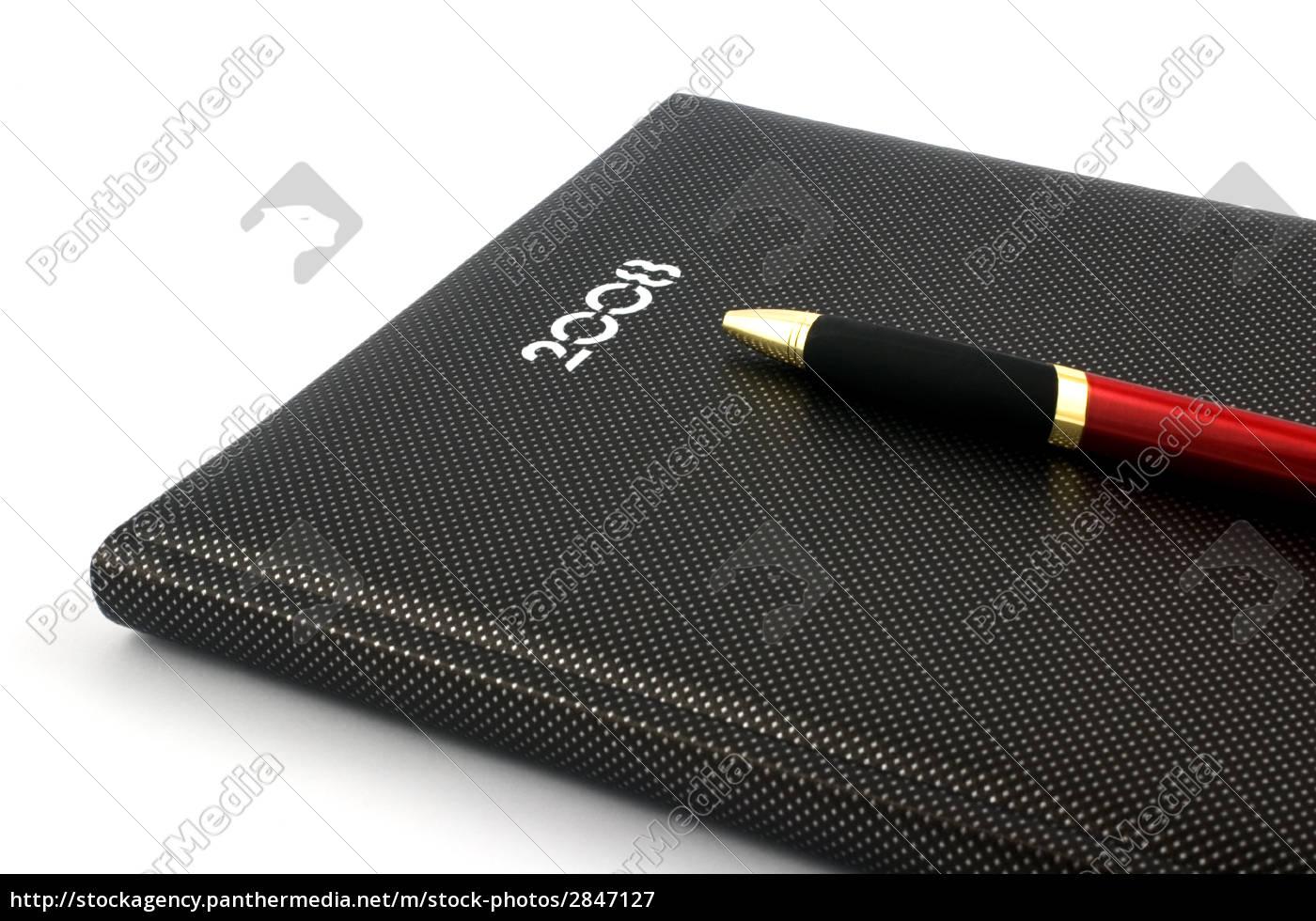 agenda, 2008, and, pen - 2847127