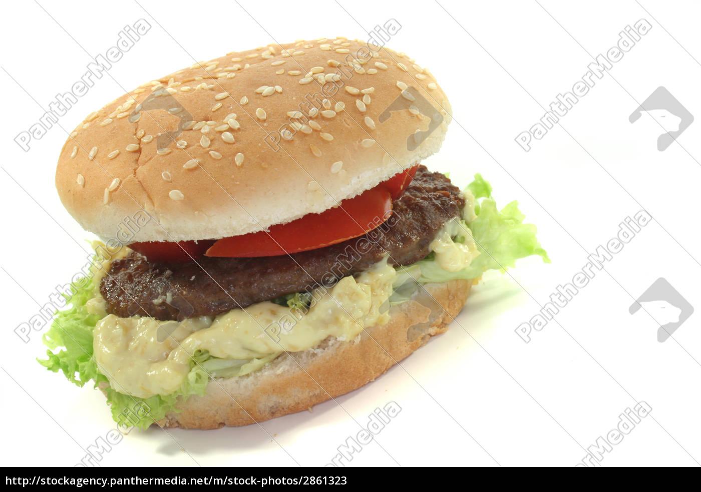 hamurger, with, fresh, vegetables - 2861323
