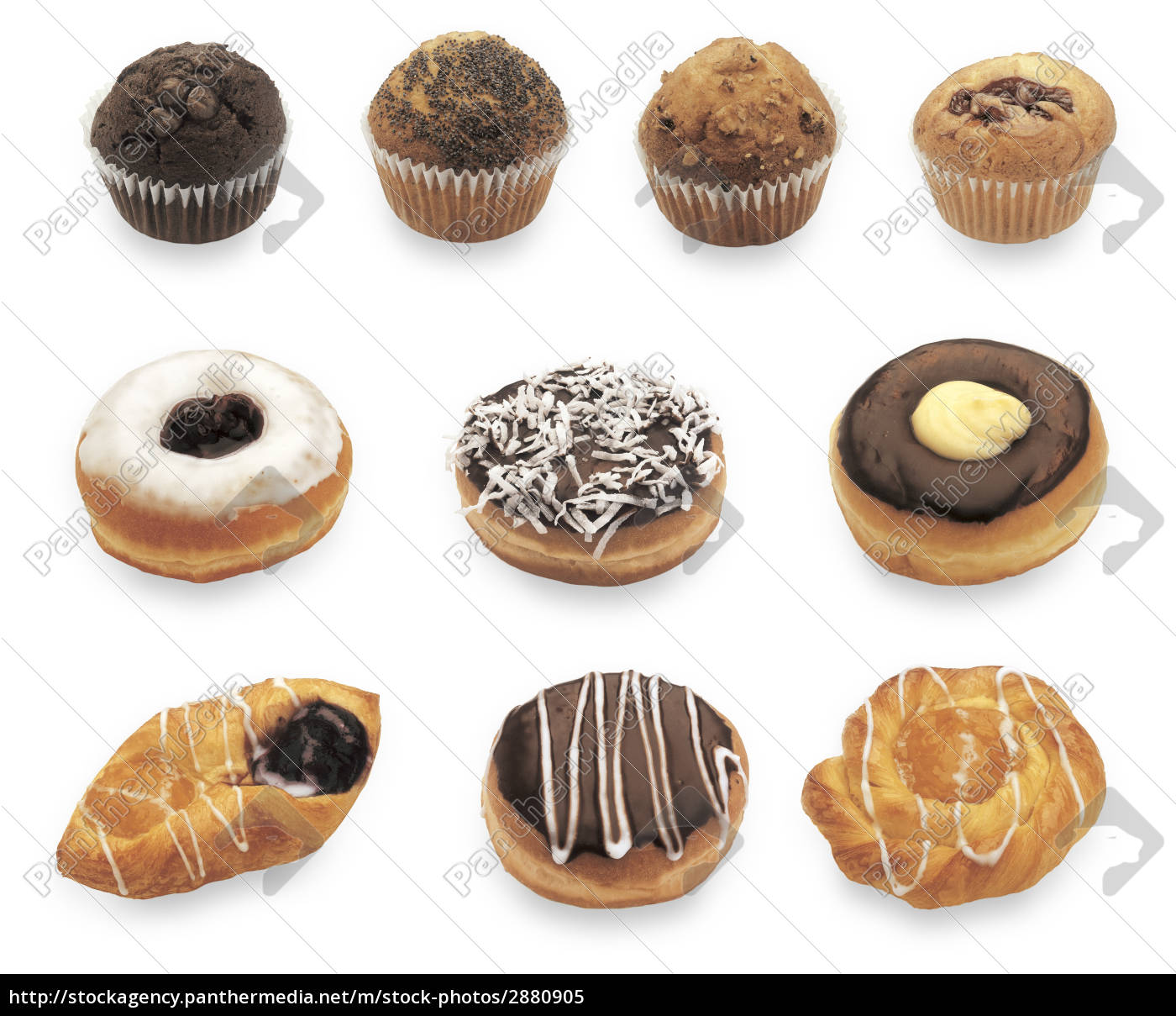 different, doughnuts, and, muffins - 2880905