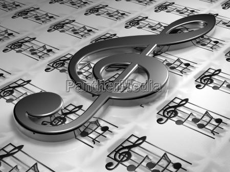 clef, -, 3d - 2896077