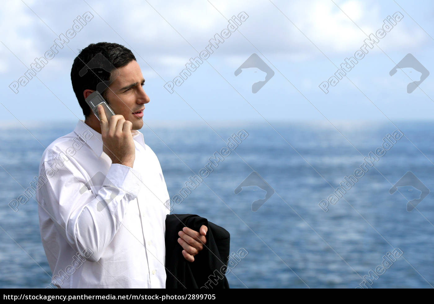 portrait, of, man, with, mobile, phone - 2899705