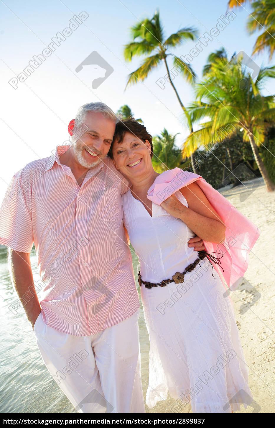 smiling, senior, couple, strolling, on, the - 2899837