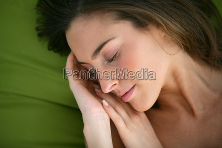portrait, of, a, young, woman, lying - 2901467