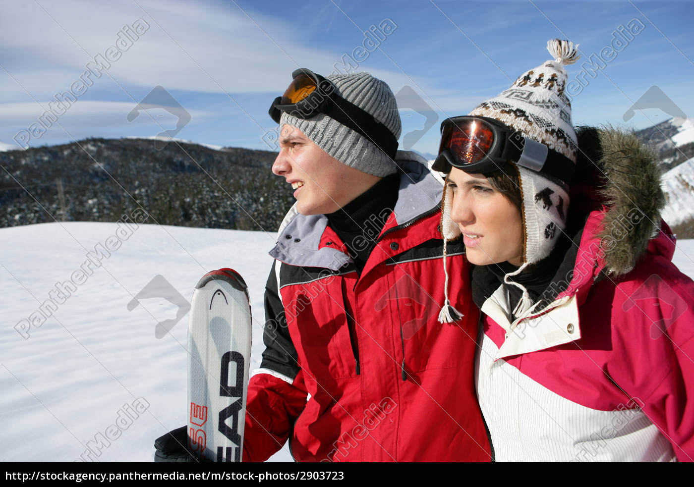 couple, in, snow - 2903723