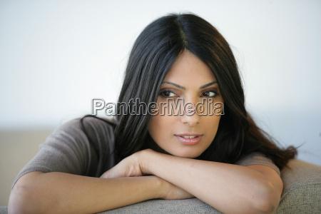 portrait, of, a, beautiful, woman, sitting - 2904515