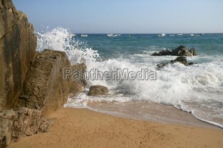beach, seaside, the beach, seashore, waves, spain - 2909961
