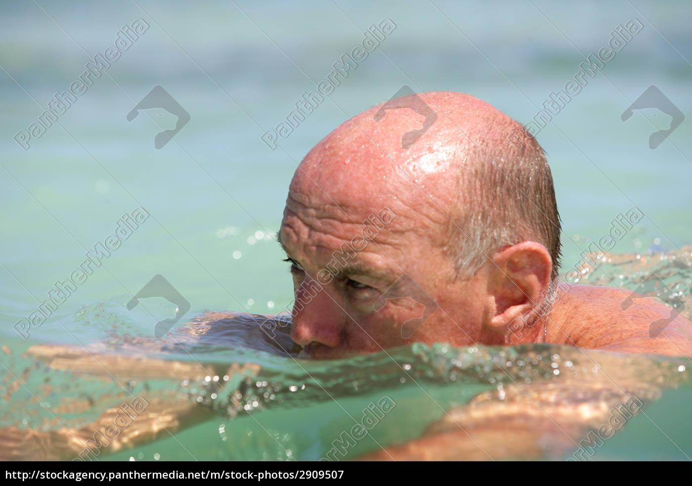 portrait, of, elderly, man, bathing, in - 2909507