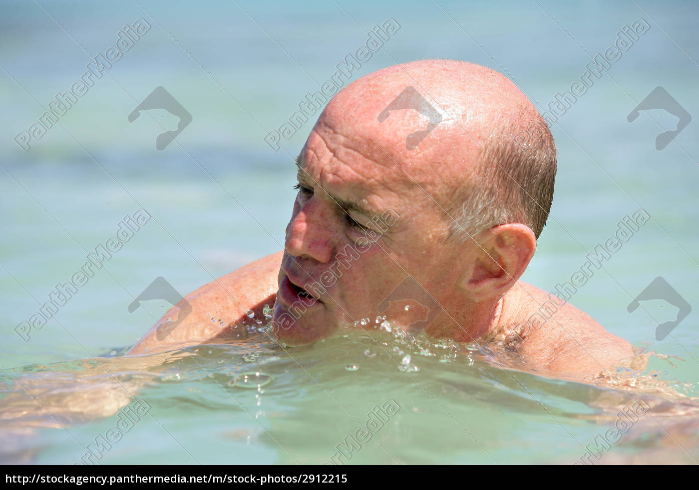 portrait, of, elderly, man, bathing, in - 2912215