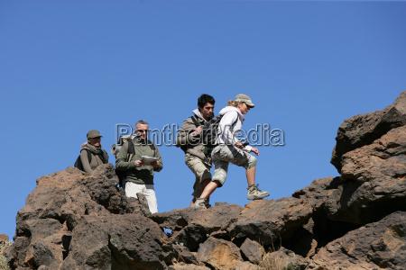 men, and, women, walking, with, hiking - 2913187