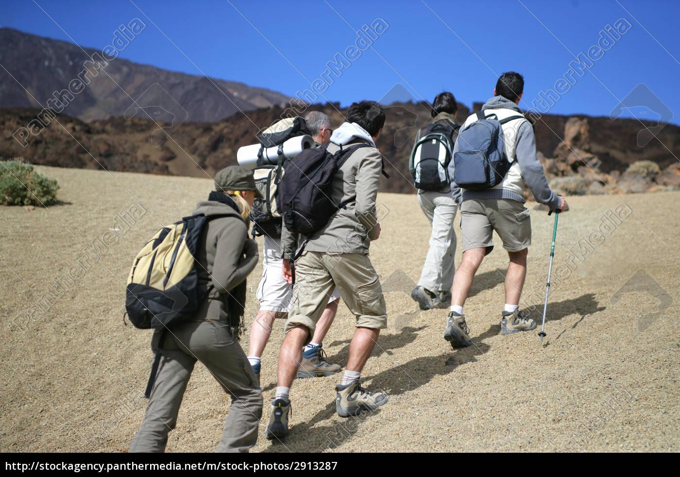 men, and, women, walking, with, hiking - 2913287