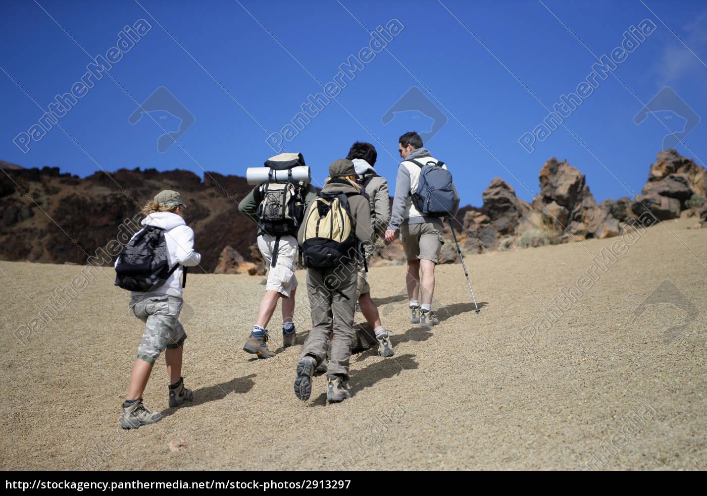 men, and, women, walking, with, hiking - 2913297