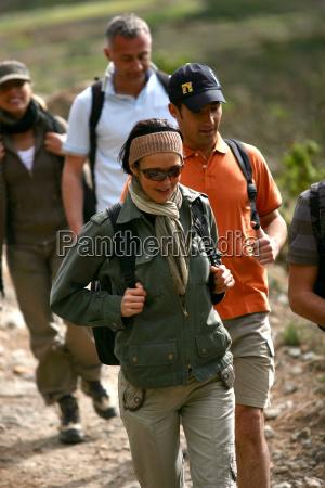 men, and, women, walking, with, hiking - 2924835