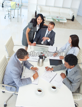 multi ethnic businessteam working in a