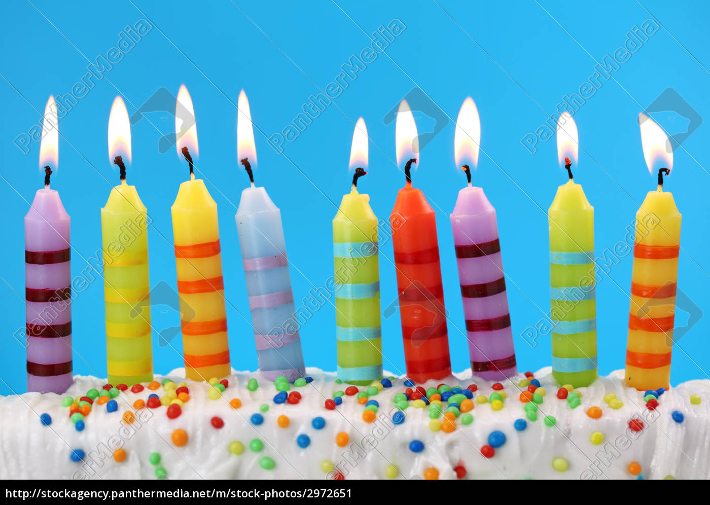 , nine, birthday, candles, on, blue - 2972651