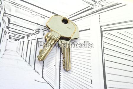 self storage units with keys