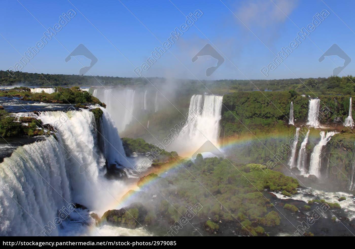 iguazu, waterfalls, with, rainbow - 2979085