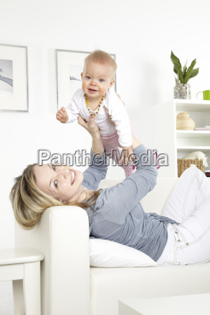 young, mother, with, baby, on, a - 2982701