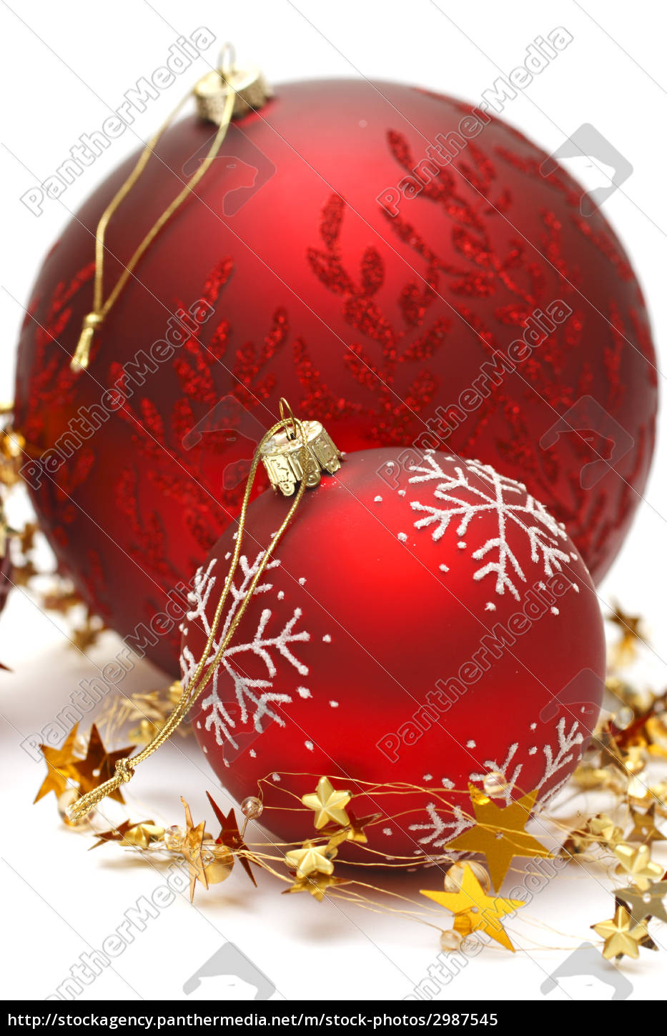 christmas, baubles, and, golden, stars - 2987545
