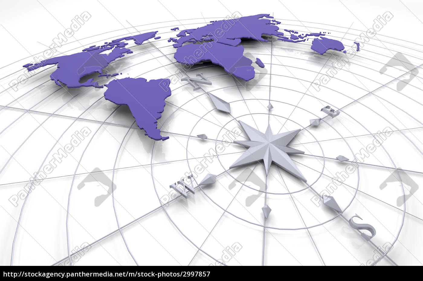 compass, on, map - 2997857