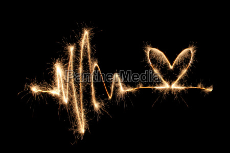 wave, heart, sparkler, 2 - 2998487